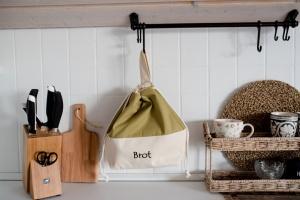 Brottasche aus Baumwolle grün/Olive 32 x 35 cm