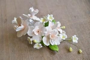 Zucker-Orchideen lachsfarben mit rosa Pünktchen, 18 cm
