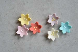 Frühlingsblumen-Set, 48 Stück farbig sortiert, Ø ca. 2 cm