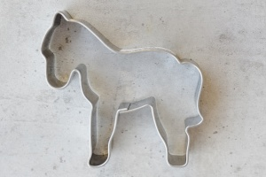 Ausstecher Pferd, Edelstahl,  5,8 x 5,5 cm