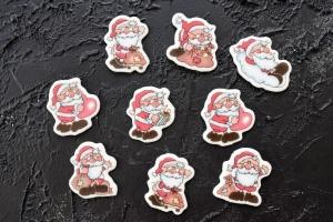 Weihnachtsmann Zucker-Aufleger, 9 Stück, 4 cm