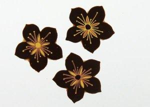 Schoko-Blüten Zartbitter, 3 cm, 24 Stück