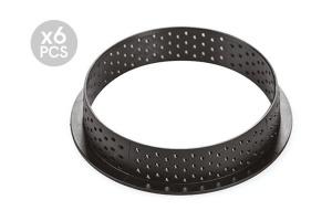 Silikonform, Silikomart Tarte Ring, 6 Stk., Ø 80, Höhe 20 mm