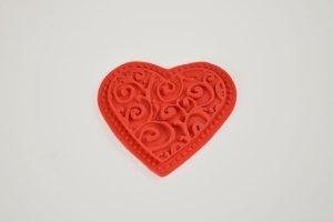Modellierform Herz aus Silikon, Ø 6 cm