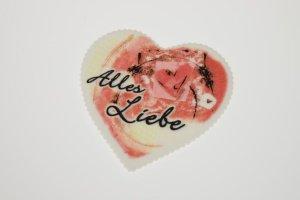 Alles-Liebe-Herz, Zucker-Aufleger, ca. 9 cm