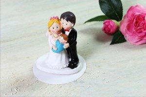 Brautpaar - Eltern mit Baby, 8 cm