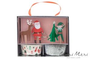 Meri Meri Cupcake Kit Weihnachten, Muffinform + Deko