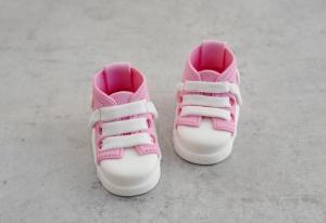 Baby-Schuhe aus Zucker, rosa, 1 Paar