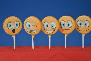 Gießform für Lutscher Smiley, 7 Formen mit Zubehör, 22-tlg.