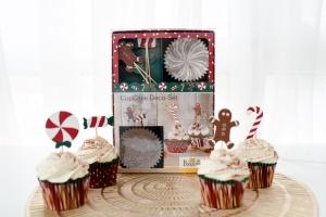 Cupcake Kit Weihnachten, Muffinform + Deko für 24 Cupcakes