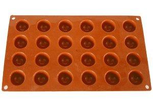 Halbkugel Backform für 24 Mini-Halbkugeln 3 cm Silikon
