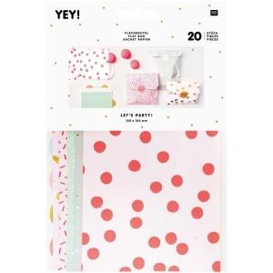 Geschenktüten Mix klein, Papier, 20 Stk., 12x18,5 cm