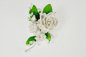 Zucker-Rosen weiß, 21 cm