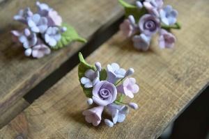 Zucker-Blumen lila, 4 Sträußchen