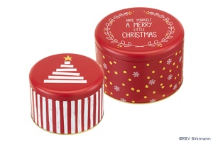 Blechdosen Set Little Christmas, 2-tlg., Ø 15 & 18 cm