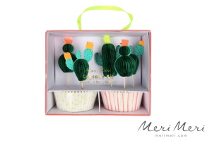 Meri Meri Cupcake Kit Kaktus, Muffinform + Deko