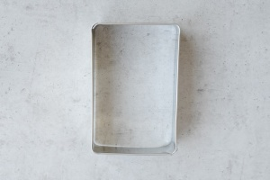 Ausstecher Lebkuchen, Edelstahl, 9 cm