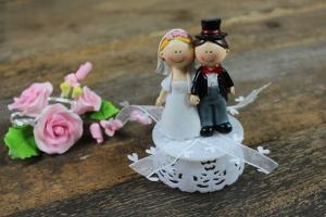 Brautpaar klein und lustig ca. 11 cm aus Polyresin