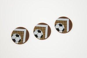 Fußball Schoko-Aufleger Torwand, Vollmilch Ø 3 cm, 24 Stück