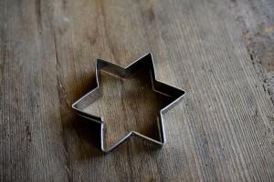 Sternausstecher 6-zackig, 11 cm aus Edelstahl