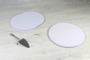 Tortenpappscheiben beschichtet rund / Ø 28 cm, 20 Stück