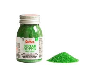 Bunter Zucker, grün, 100 g