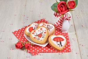 Herzen -In Liebe- Zucker-Aufleger, 12 Stück - ausverkauft