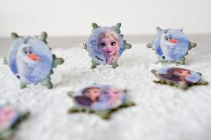 Frozen Eiskönigin Zucker-Aufleger Ø 5,5 cm, 12 Stück