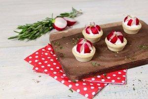 Tartelettes Mini-Snack, neutral, Ø 4,2 cm, 32 Stück