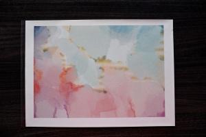Tortenbild Hobbybäcker, blau rosa Himmel