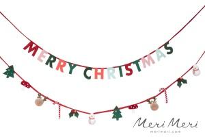Meri Meri Girlande Merry Christmas, Filz, 200x6 cm