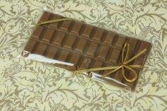 Klarsichtbeutel mit Goldband für Schokoladentafel, je 10Stck