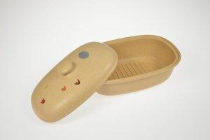Brottopf beige, oval aus Steinzeug, - ausverkauft