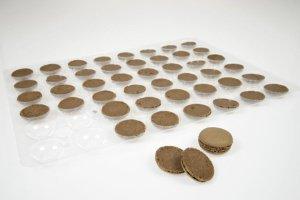 Macarons schoko, Ø 3,5 cm, 48 Stück