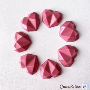 Schokoladenform geometrisches Herz, XS, 3,5x3,5 x1 cm