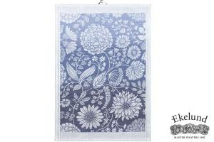 Geschirrtuch, Blumen, 100 % Bio Baumwolle, 35x50 cm