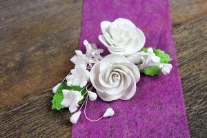 Zucker-Rose weiß ca. 14 cm