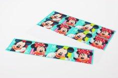 Fondant-Bordüre Mickey Mouse, 90 cm, Höhe 6,5 cm