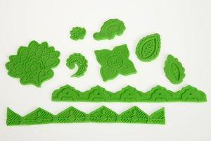 Präge- und Modellierform Blätter- und Bandornamente