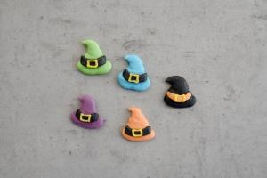 Zuckerdekor Hexenhüte, farbig sortiert, 30 Stück
