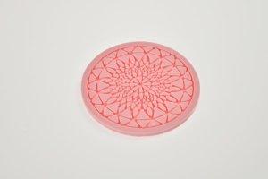 Spitzendekor-Matte Geo rund aus Silikon, Ø 9 cm