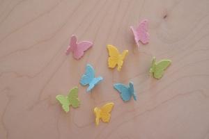 Zuckerdekor Schmetterlinge, groß ca. 4 cm, 12 Stück