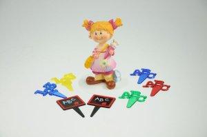 Schulanfang-Set Mädchen für Thementorten