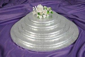 Cake Board / Tortenplatte, Ø 30cm, 1,2cm silberfarben