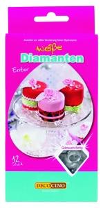 Essbare Diamanten, 12 Stück, Ø ca. 1 cm