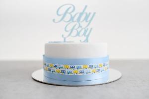 Tortenband -Baby-, hellblau, lebensmittelecht, Breite 4,5 cm