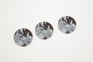 Schoko-Aufleger Winterland, Zartbitter Ø 3 cm, 24 Stück