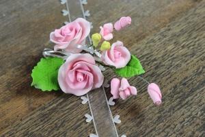 Zucker-Rose rosa, 12 cm