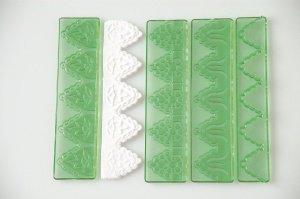 Randgarnitur Ornamente 4-tlg. grün