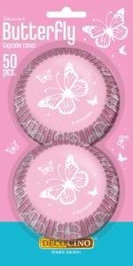 Muffinförmchen Schmetterling, Papier, 50 Stk., Ø 5cm, H 3cm